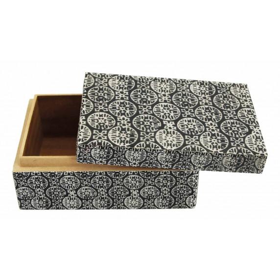 boite noire et blanche bois laqué