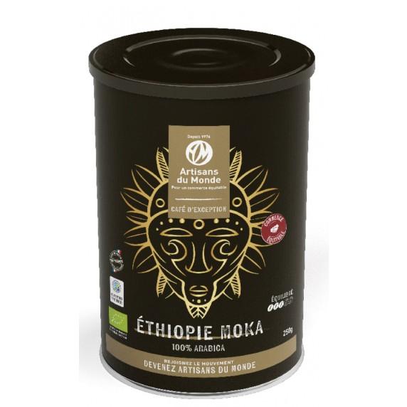 café ethiopie moka grand cru equitable bio boite metal