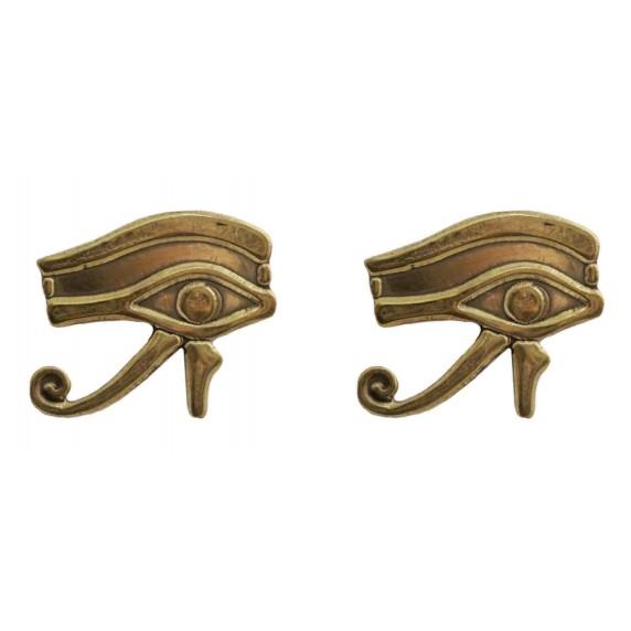 boucles d'oreilles dorées oeil d'horus