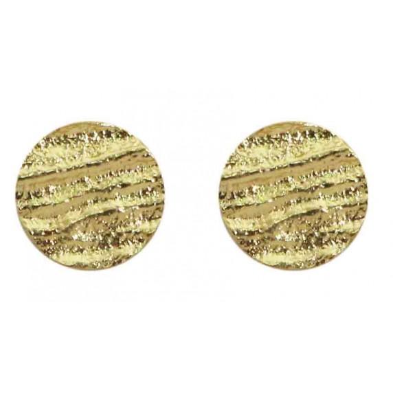 boucles rondes bouton dore