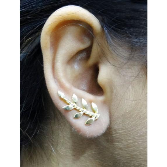 boucles oreilles feuille equitable