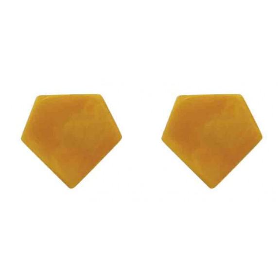 boucles oreilles jaunes equitable tagua