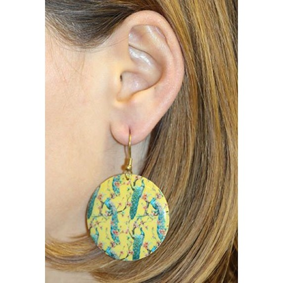 Boucles d'oreilles jaune et bleu équitables