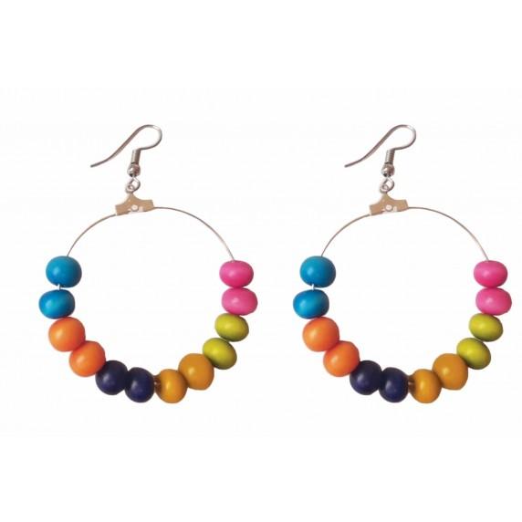 boucles multicolores tagua