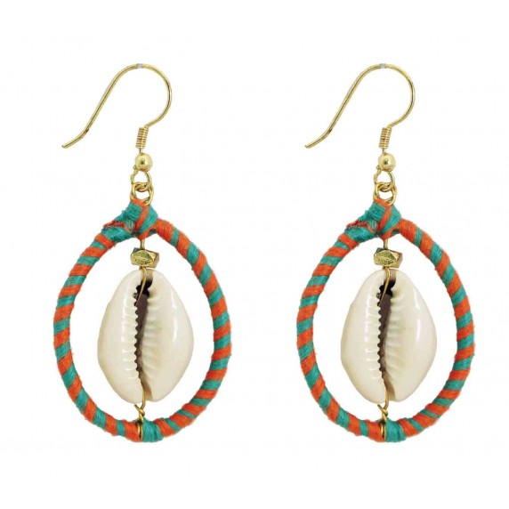 boucles coquillage rondes