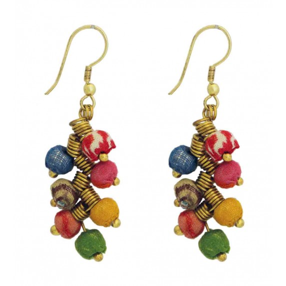 boucles oreille recycle tissu