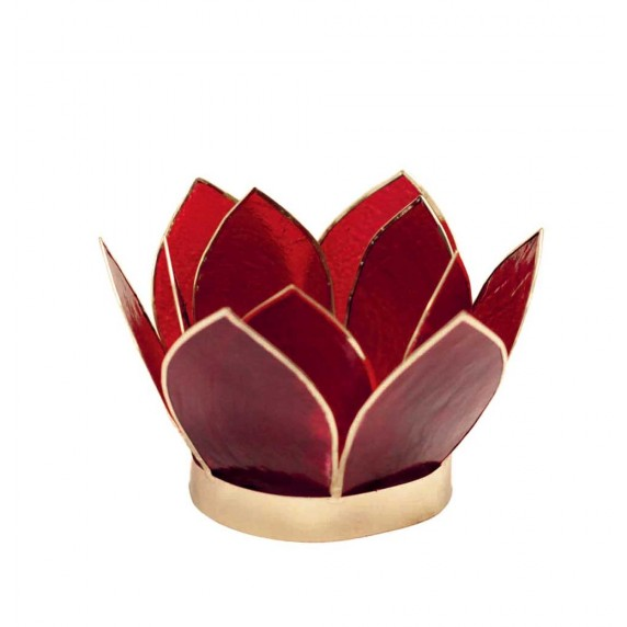 BOUGEOIR CAPIZ LOTUS ROUGE