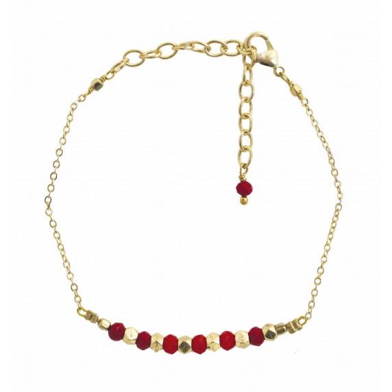 bracelet rouge dore equitable