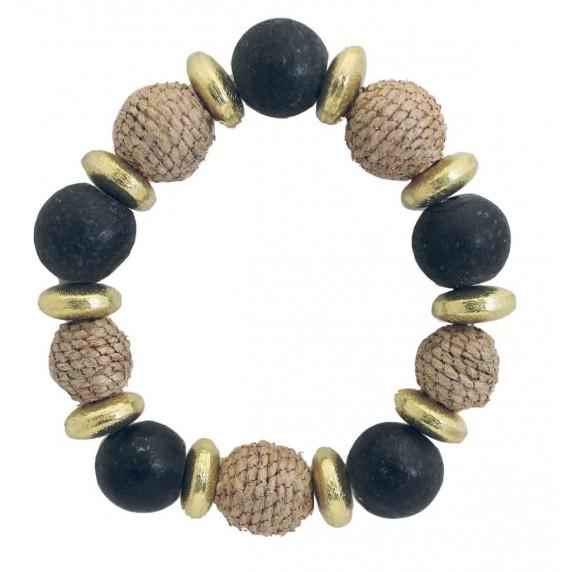 bracelet jute noir