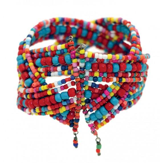 bracelet manchette perles