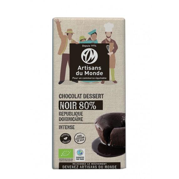chocolat noir dessert 80% bio equitable