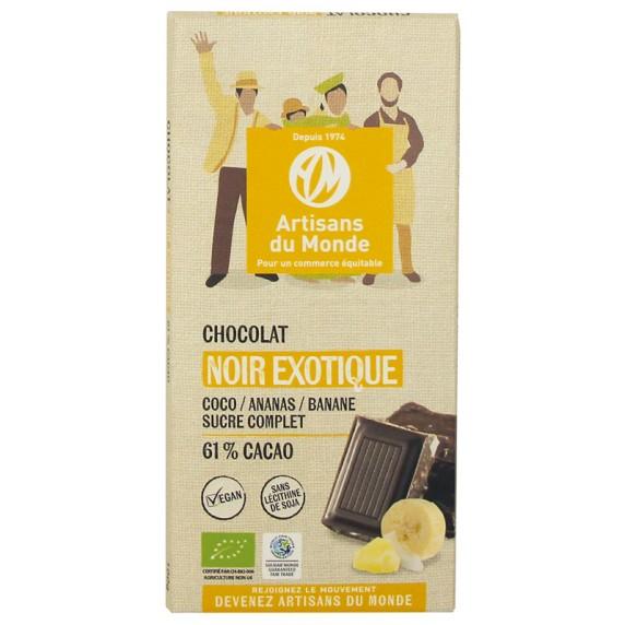 Chocolat noir exotique bio et équitable