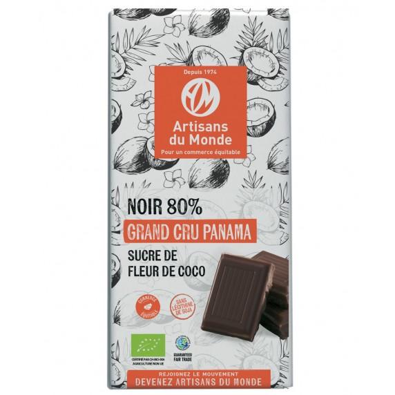 chocolat noir bio equitable sucre coco panama