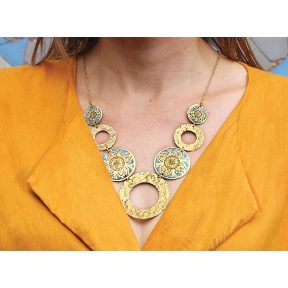 collier dore bleu equitable