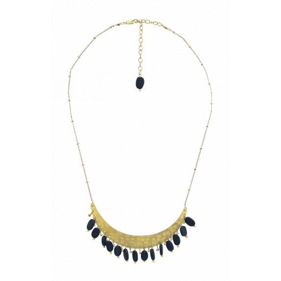 collier noir dore equitable