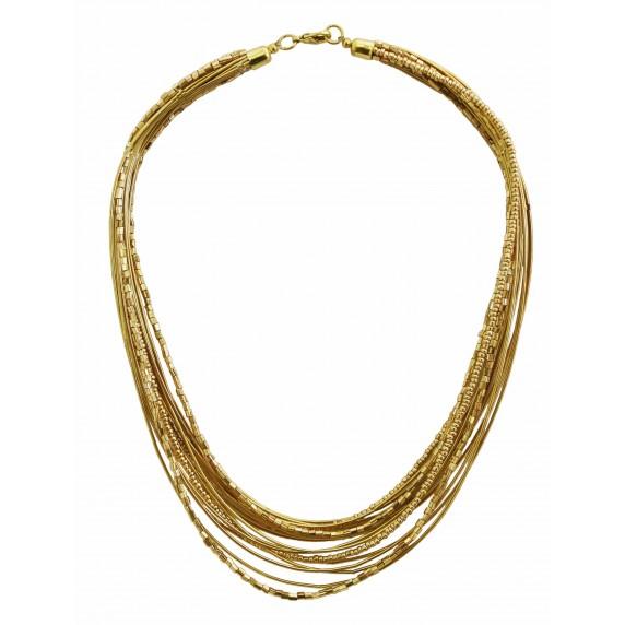 collier dore multirang