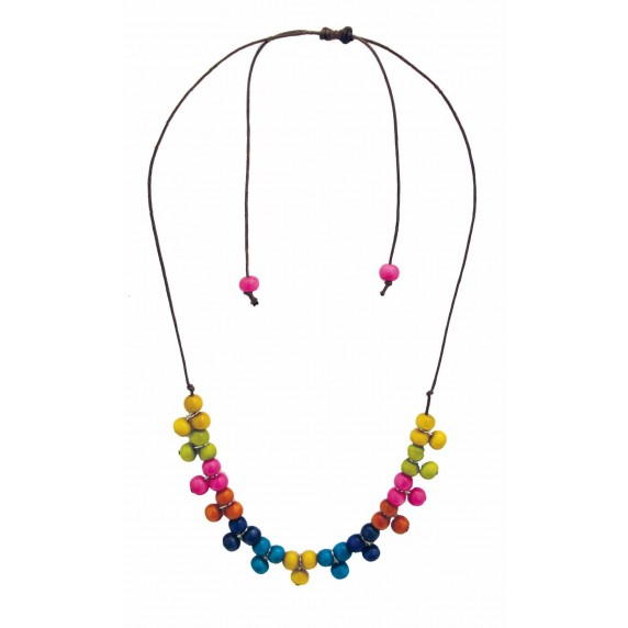collier multicolore tagua commerce equitable