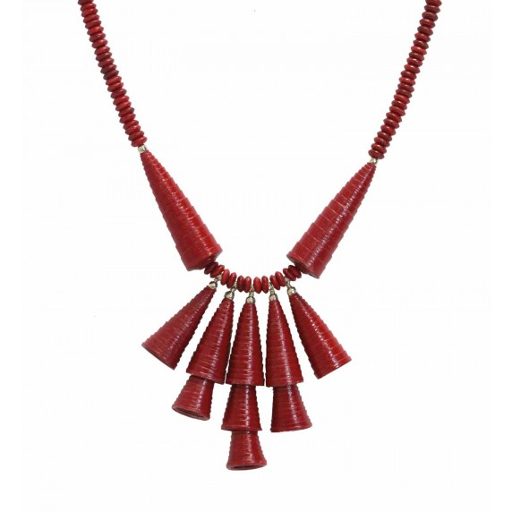 collier rouge papier recycle equitable