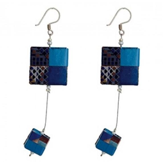 Boucles d'oreilles Zhezhi Bleues - Chili