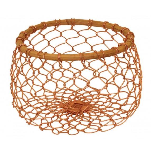 corbeille metal bambou