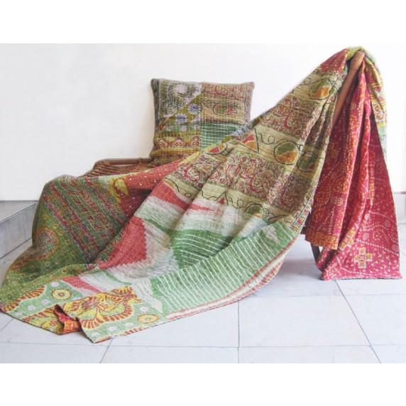 couverture sari recylé