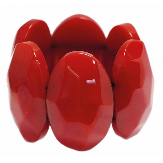 bracelet rouge en résine