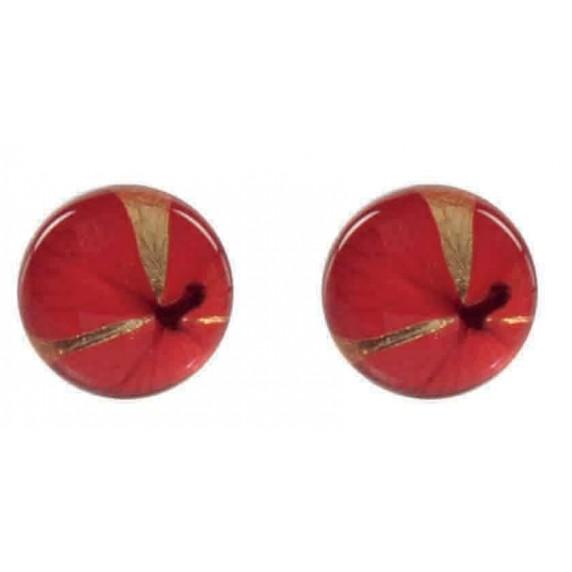 Boucles d'oreilles fleur d'Hortensia