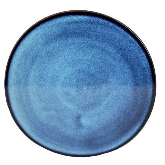 dessous de plat bleu ceramique