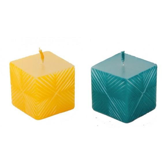 bougies jaune bleue