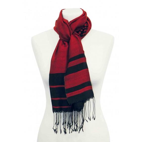 etole noire et rouge soie laine
