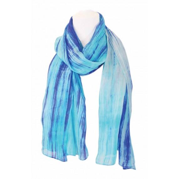 etole soie bleu