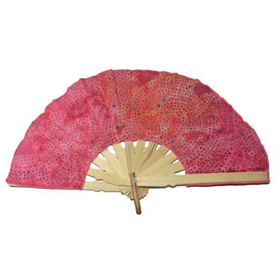 éventail rose batik