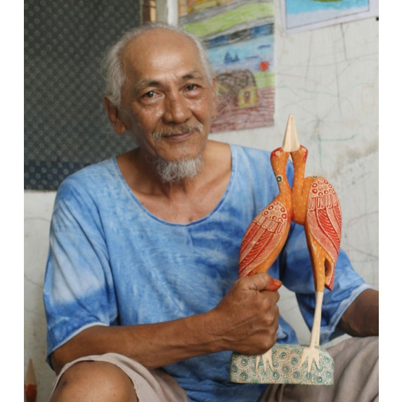 artisan oiseau orange