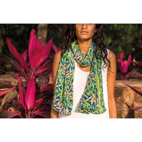 étole recyclée sari
