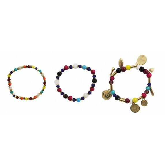 bracelets colorés commerce equitable