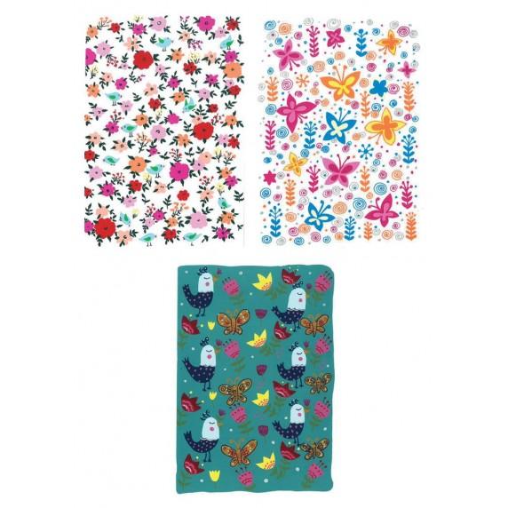 lot cartes oiseaux fleurs