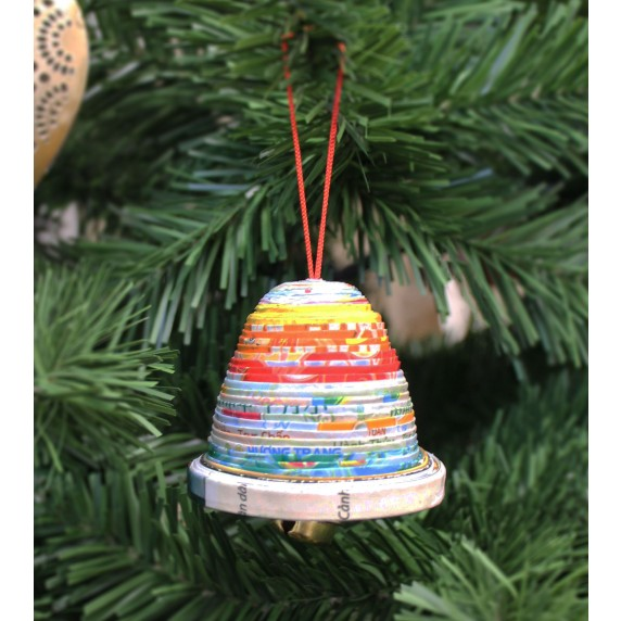 cloche papier recycle sapin