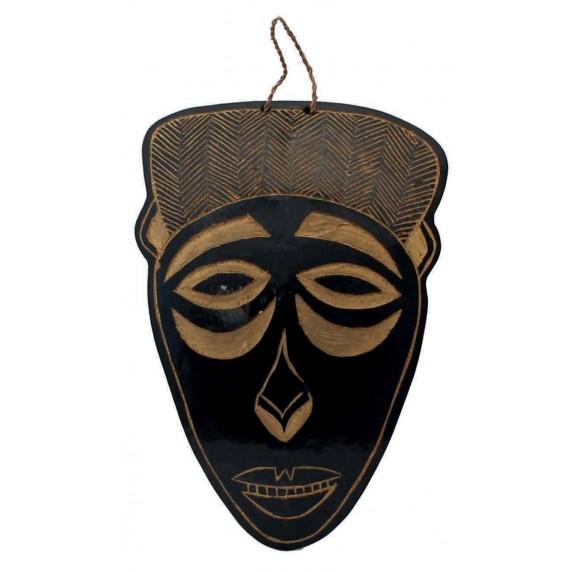 Masque africain calebasse