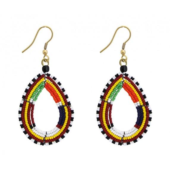 Boucles d'oreilles Masai pendantes