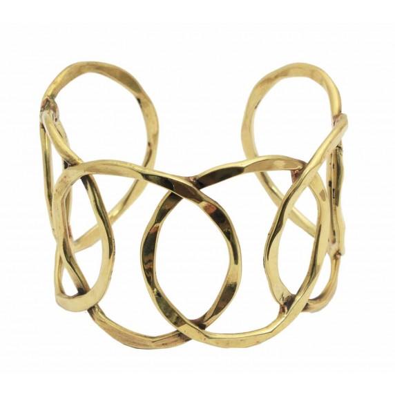 bracelet dore equitable laiton