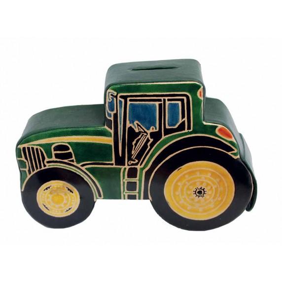 tirelire tracteur cuir equitable