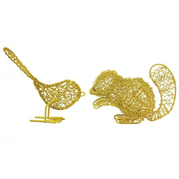 oiseau ecureuil jaune