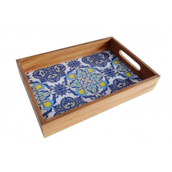 plateau azulejos bleu