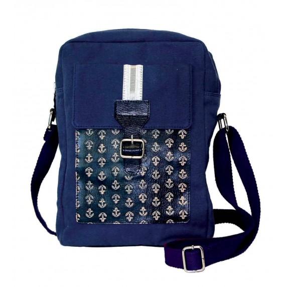 saccoche bleue ancres