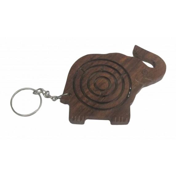 porte-clés elephant bois equitable