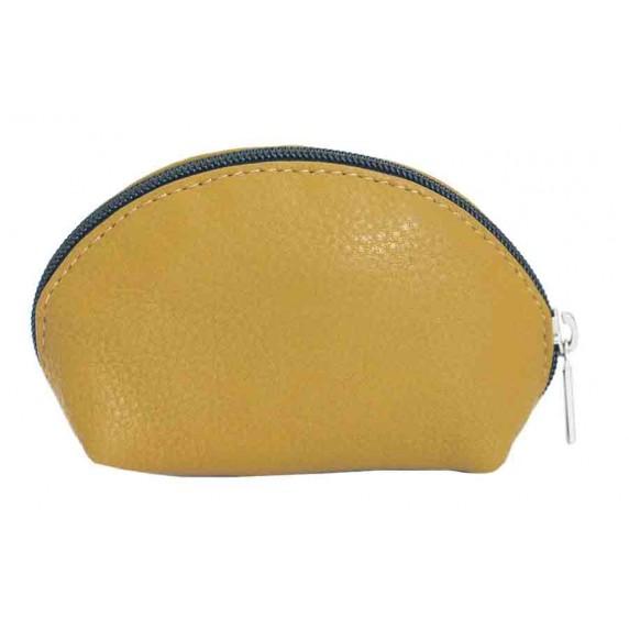 porte-monnaie cuir jaune equitable