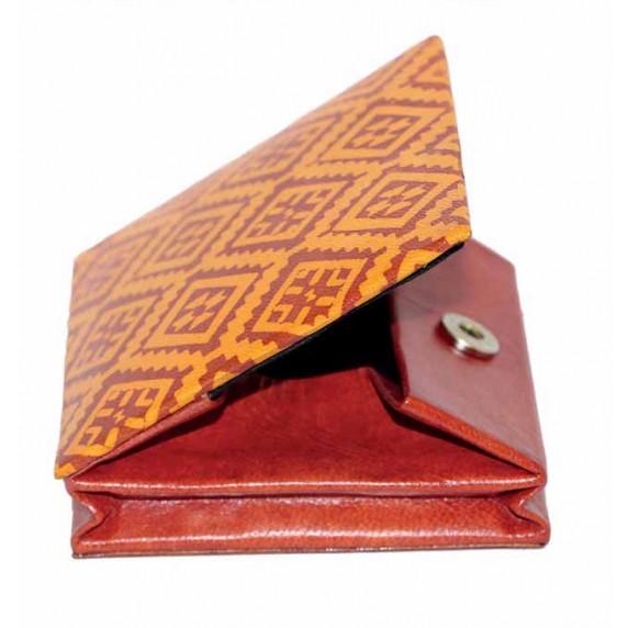 porte-monnaie equitable cuir ethnique