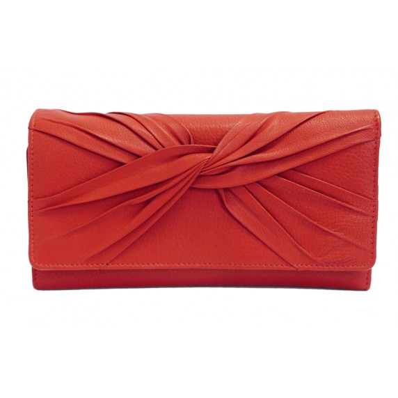 portefeuille cuir rouge equitable