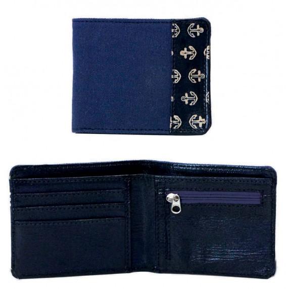portefeuille ancre bleu