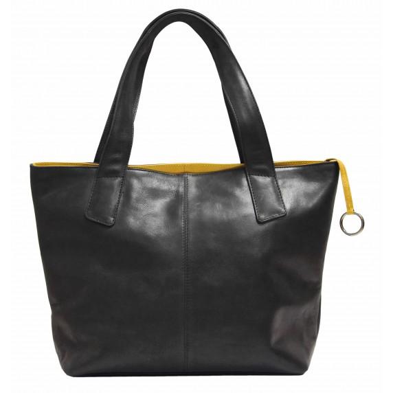 sac a main noir dore equitable